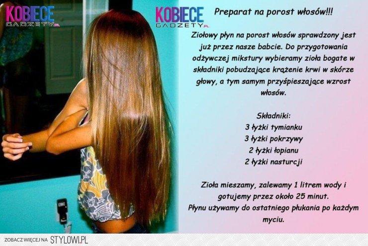 domowy sposób na szybki porost włosów