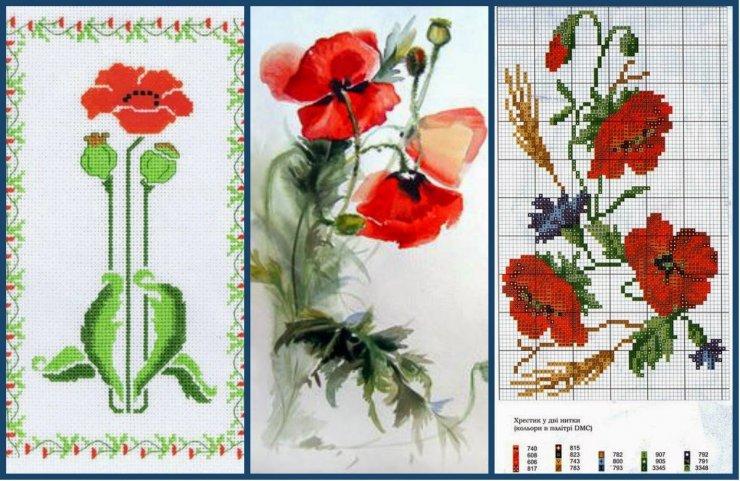 Схемы вышивки крестом бесплатно скачать Цветы