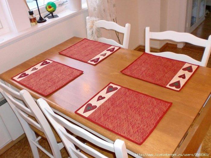 Текстильные салфетки на стол своими руками