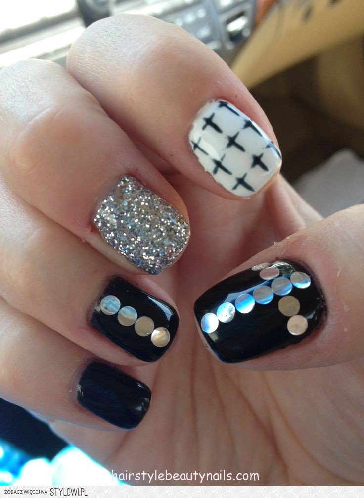 Beautiful Nails Cross Design Pattern - Nail Art Ideas - morihati.com