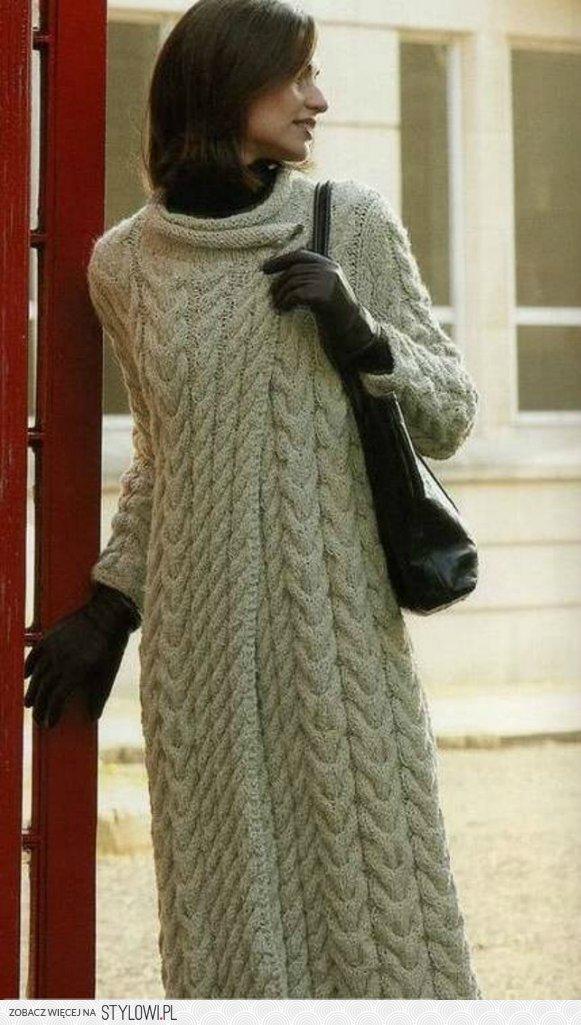 Вязаные пальто своими руками