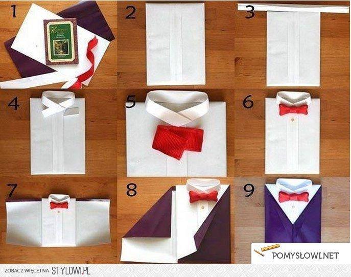 Как упаковать рубашку на подарок 885