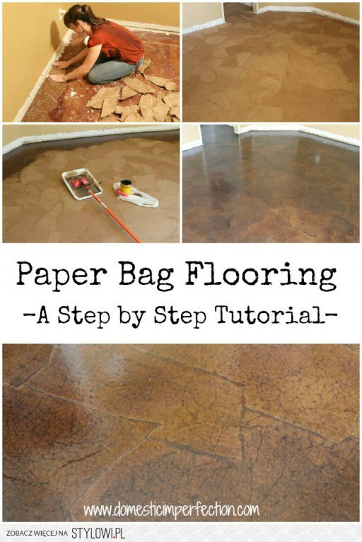 How To Do An Affordable Flooring Solution With Paper Ba