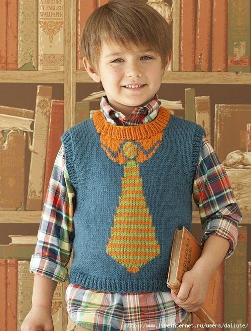 Схема вязания жилет мальчику