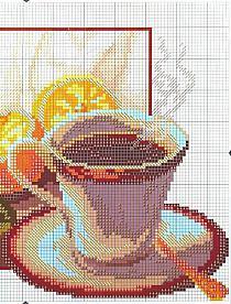 Схемы вышивки крестом чай и кофе