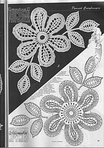 Szyde kowe kwiaty na for Merletti a uncinetto schemi