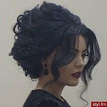 Причёска на черные длинные волосы