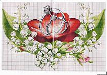 Рушник схема вышивке крестом свадебные