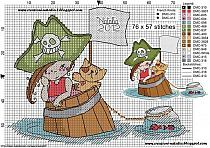Схема для вышивки пираты 153