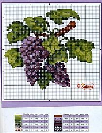 Виноград вышивка крестом схема