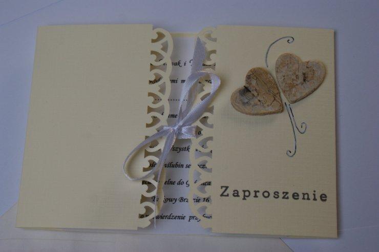Zaproszenia ślubne Httpallegroplrustykalne Zapros Na Stylowipl