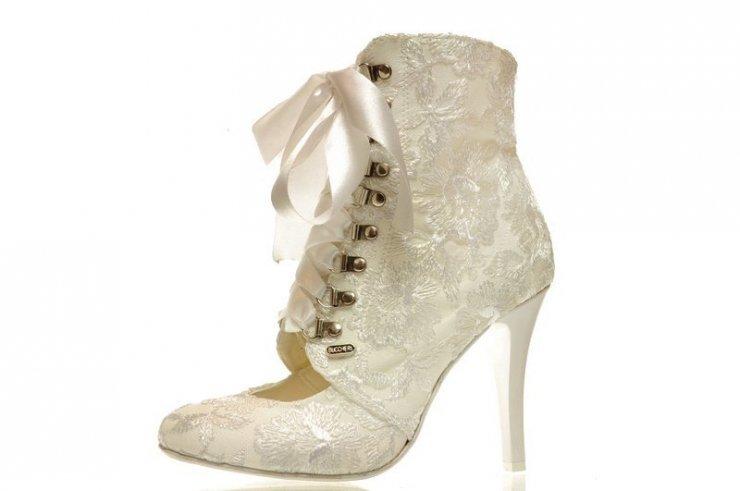 Zimowe Koronkowe Buty ślubne Na Stylowipl
