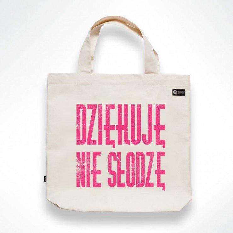 0e7c826965e43 Pewex Torba Dziękuje nie słodzę Naturalny różowy na Stylowi.pl