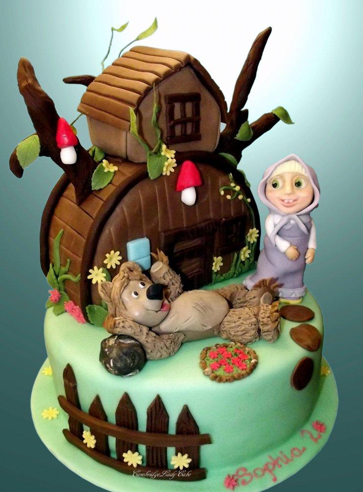 Tort Masza I Niedzwiedz Masha And The Bear Cake Na Stylowipl