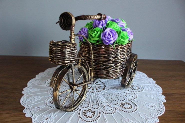 b09d87ba2e4650 rower z papierowej wikliny na Stylowi.pl