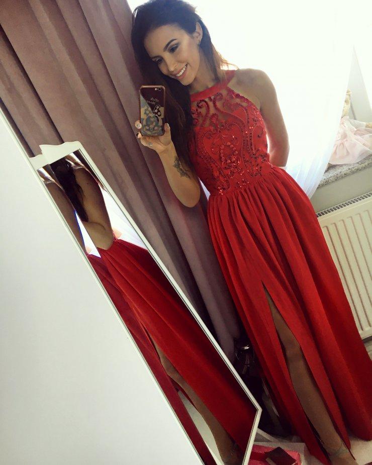 8f76f92f9e Długa czerwona sukienka na wesele na Stylowi.pl