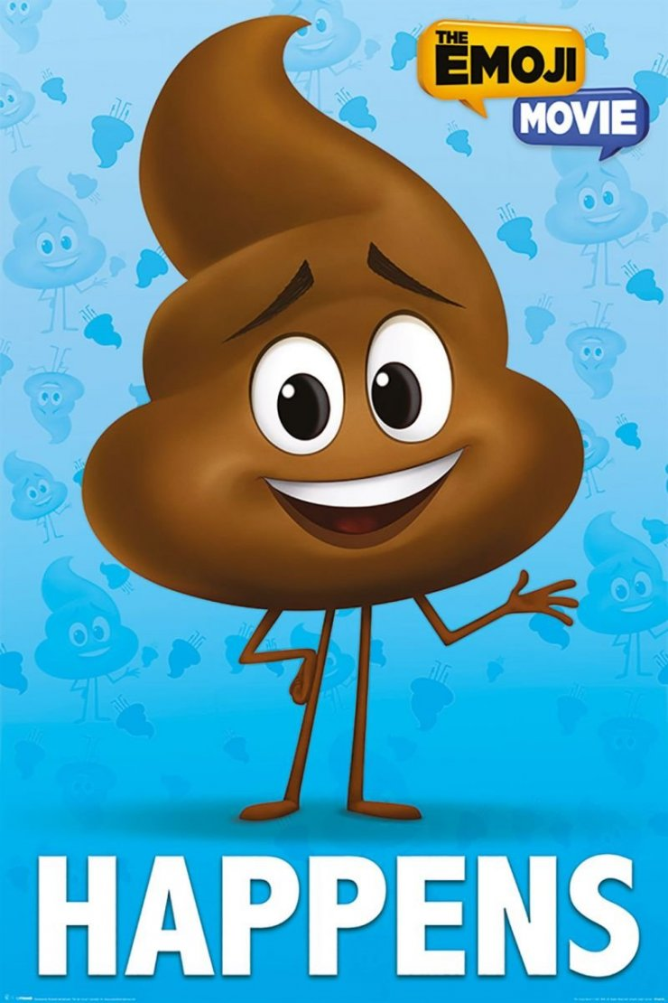 The Emoji Movie Poop Happens Plakat Filmowy Galeria Na