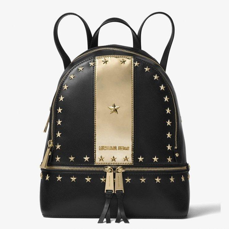 18709638e9c9 MICHAEL Michael Kors Rhea Zip Studded Leather Backpack… na Stylowi.pl