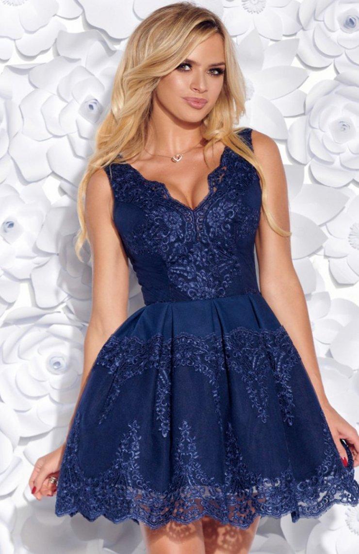 e625febae5 Bicotone 2136-01 sukienka niebieska Efektowna sukienka… na Stylowi.pl