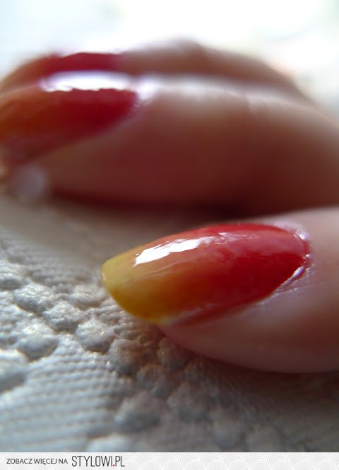 fire nails ombre na Stylowi pl