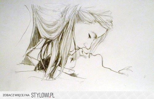 Szkic Ołówkiem H Pocałunek Na Stylowipl