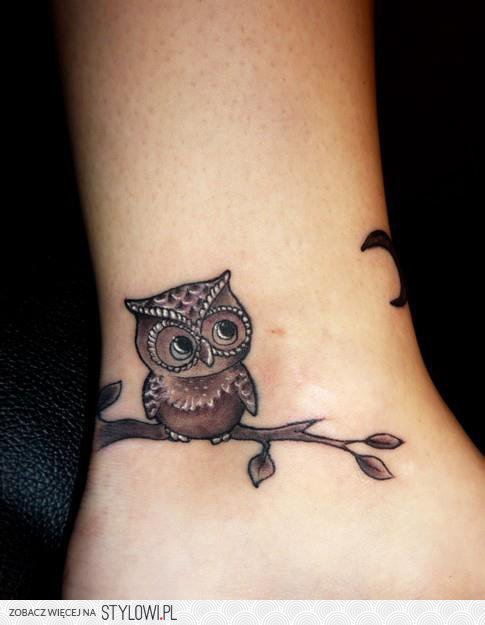 Sowa Tatuaz Na Stylowipl