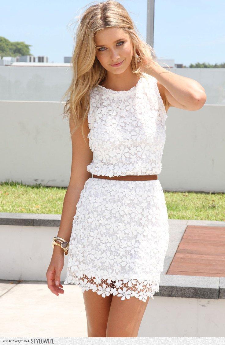 c1da0a2120 biała letnia sukienka na Stylowi.pl