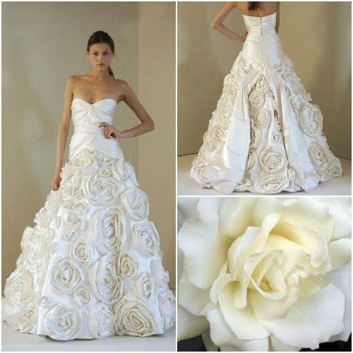 8a7d46841f Jakie kwiaty inspirują projektantów sukien ślubnych  na Stylowi.pl