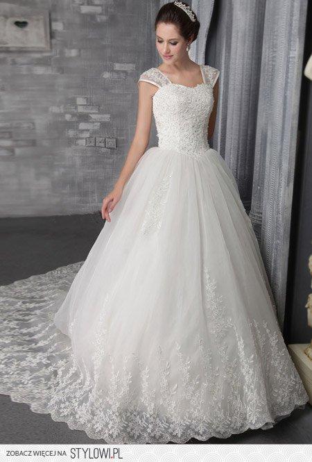 Suknia ślubna Koronka Księżniczka Na Stylowipl