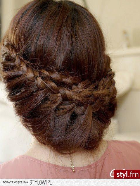 Fryzury Wieczorowe Włosy Fryzury średnie Wieczorowe Pr Na