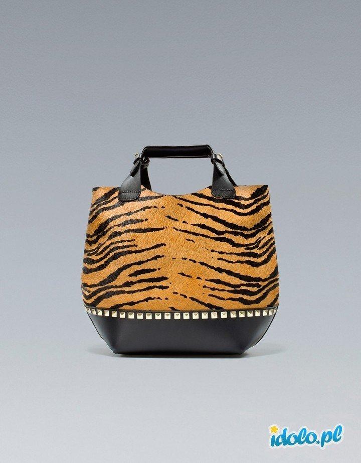 8b1a9303c8559 duża torba ZARA w panterkę - najmodniejsze torebki na j… na Stylowi.pl