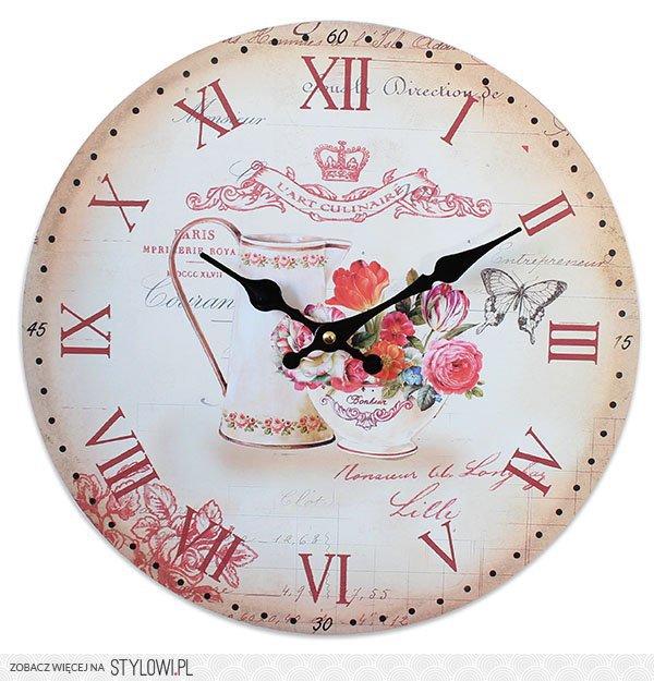Piękny Zegar ścienny Doskonały Do Kuchni średnica 34 Na