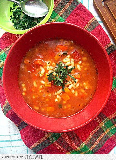 Wiejska Wloska Zupa Wloska Zupa Pomidorowa Z Fasola I S Na Stylowi Pl