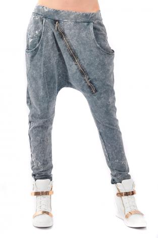 f2490cb2c43d Spodnie dekatyzowane baggy z suwakiem grafitowe - Cocom… na Stylowi.pl
