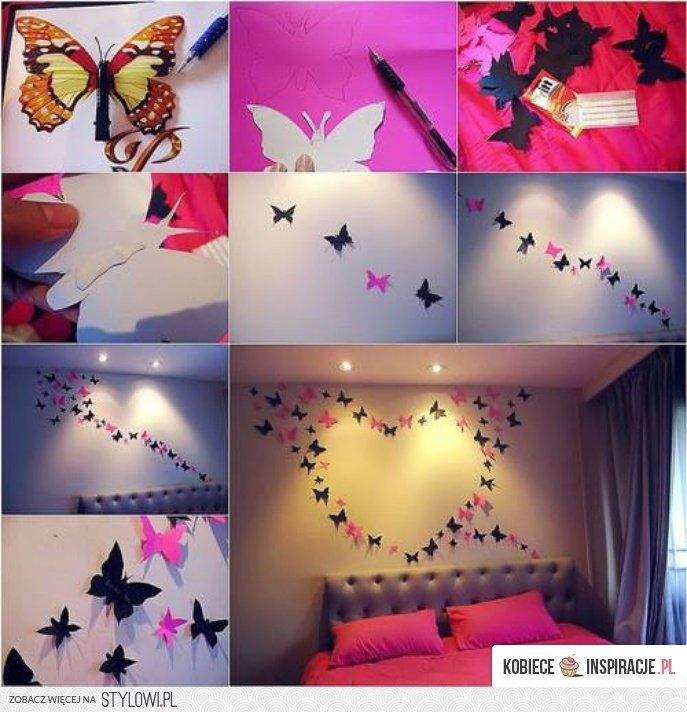 Dekoracje Na ścianę Motyle Kobieceins Na Stylowipl