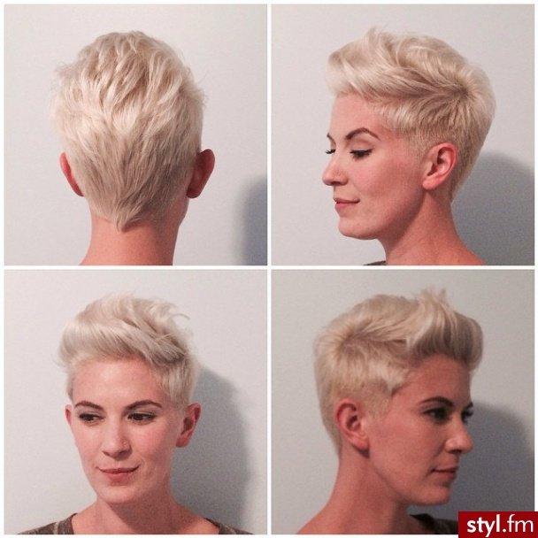 Fryzury Blond Włosy Fryzury Krótkie Na Co Dzień Prost Na Stylowipl