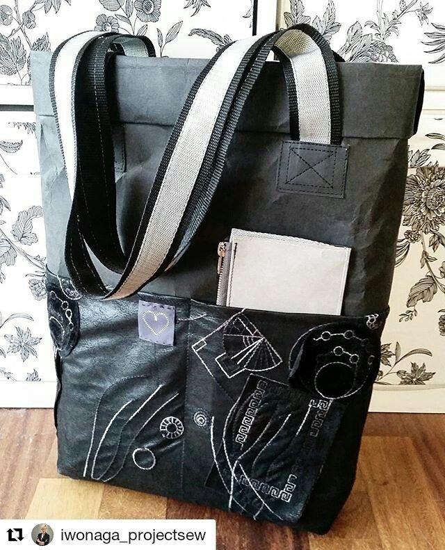 e915e356fcf5b Świetna torba z washpapy od  iwonaga projectsew ☺  zrob… na Stylowi.pl