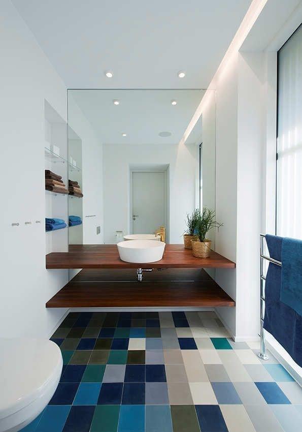 Kolorowa Podłoga W łazience Inspiracje Wnętrz Wnetr Na