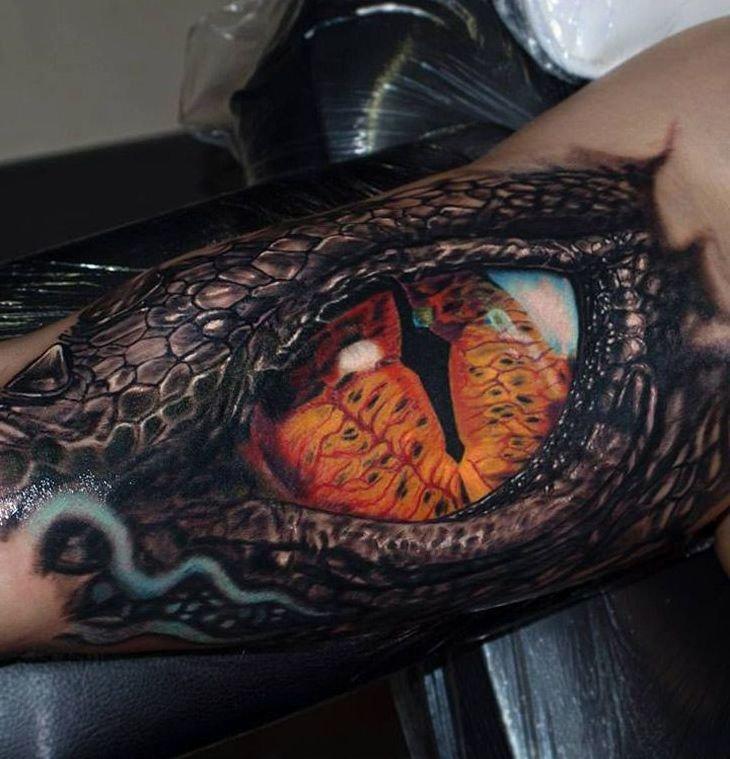 Oko Krokodyla Tatuaż Na Ręce Na Stylowipl