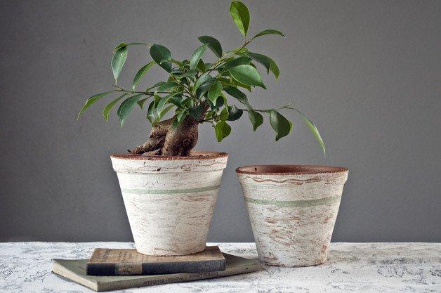 Retro Doniczki Ceramiczne Oryginalne Ręcznie Malowan Na
