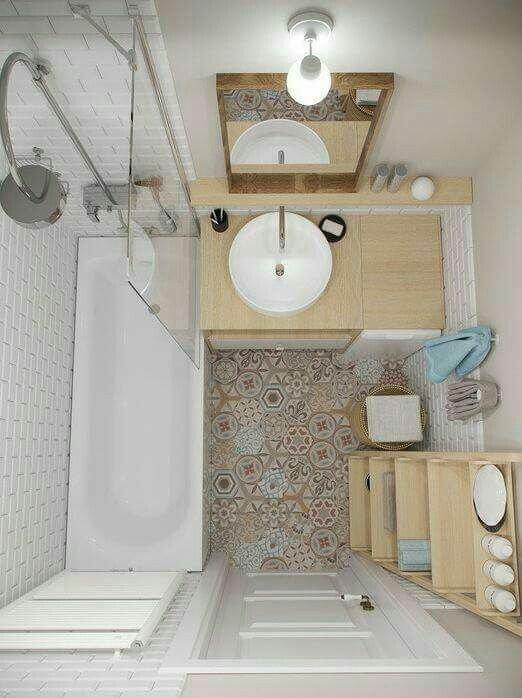 Wzorzysta Podłoga W łazience Na Stylowipl