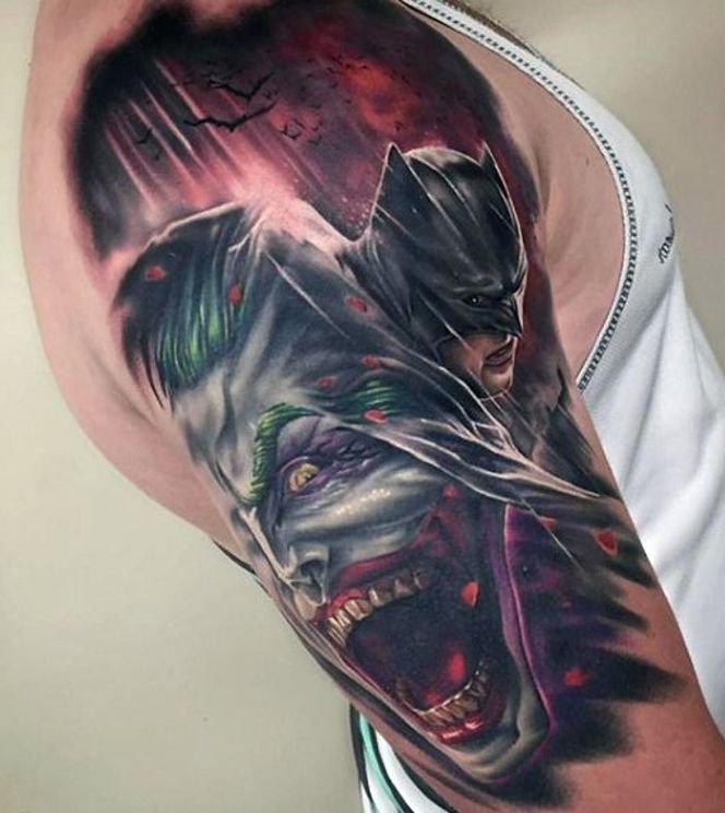 Batman I Joker Tatuaż Na Ramieniu Na Stylowipl