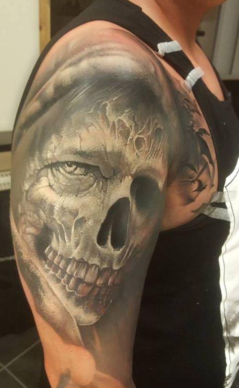 Czaszka Demon Tatuaż Na Ramieniu Na Stylowipl