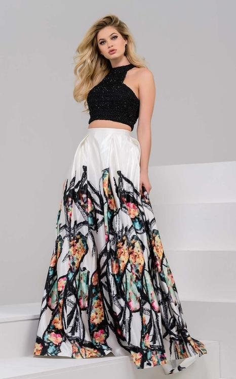 c543ce96732e Jovani 47693 Halter Neck Two-Piece Evening Gown na Stylowi.pl
