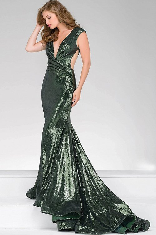 0e71a4fb52 Jovani 56969 Sequined Fitted Prom Dress na Stylowi.pl