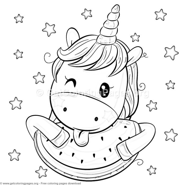 23 Cute Cartoon Unicorn Coloring Pages Getcoloringpag Na Stylowi Pl
