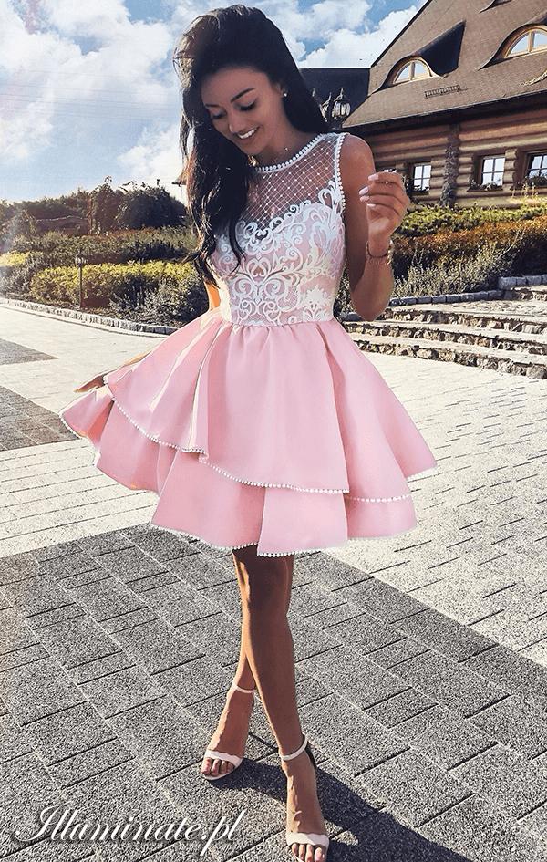 8b4559b274 LUCY różowa rozkloszowana sukienka na wesele illuminate… na Stylowi.pl