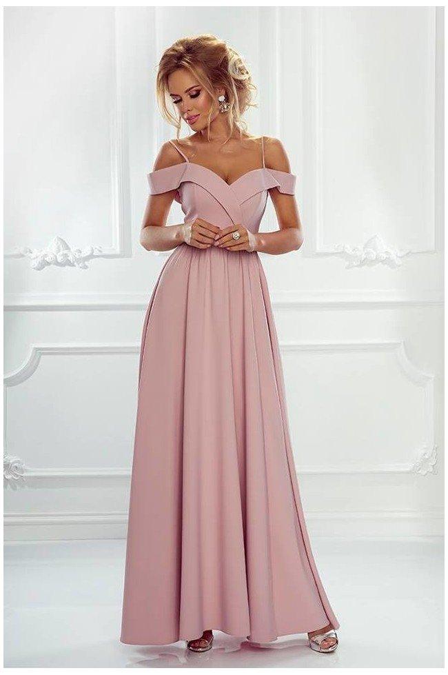 5623a4cff9 Długa suknia wieczorowa bez ramion Sandy - brudny róż -… na Stylowi.pl