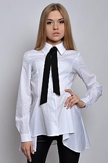 c1ac1614 Bluzka koszula z czarną tasiemką biała - Cocomoda.pl -… na Stylowi.pl