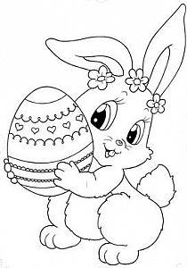 Kolorowanka Zajączek Wielkanocny Do Wydruku Nr 52 Na Stylowipl